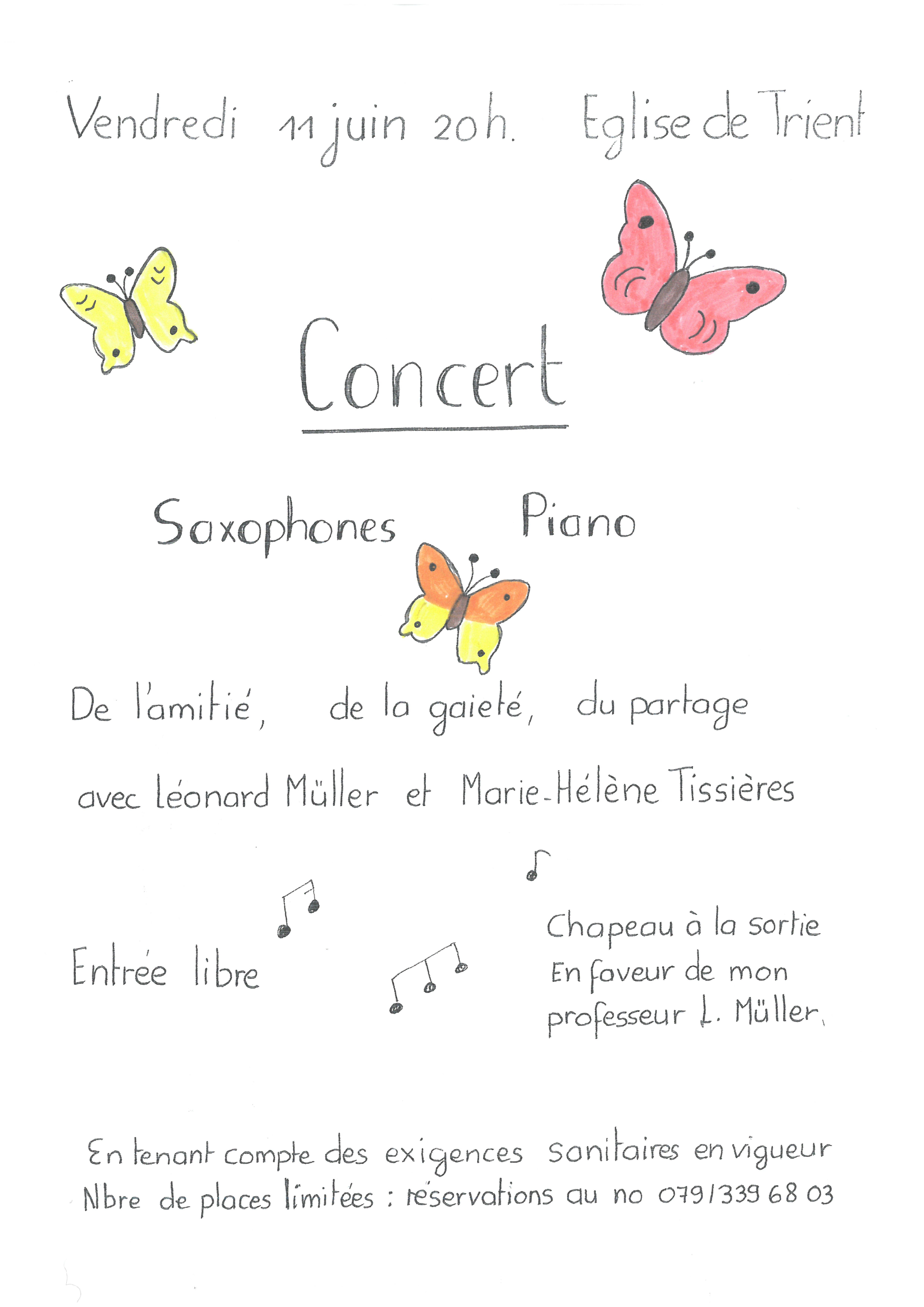 Eglise de Trient - Concert Saxophone-piano
