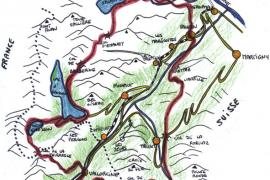 Carte du Tour de la Vallée du Trient
