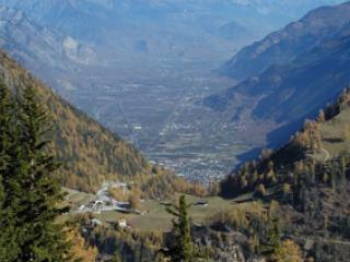 Col de la Forclaz et la vallée du Rhône