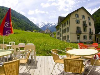 Terrasse de l'auberge du Mont-Blanc
